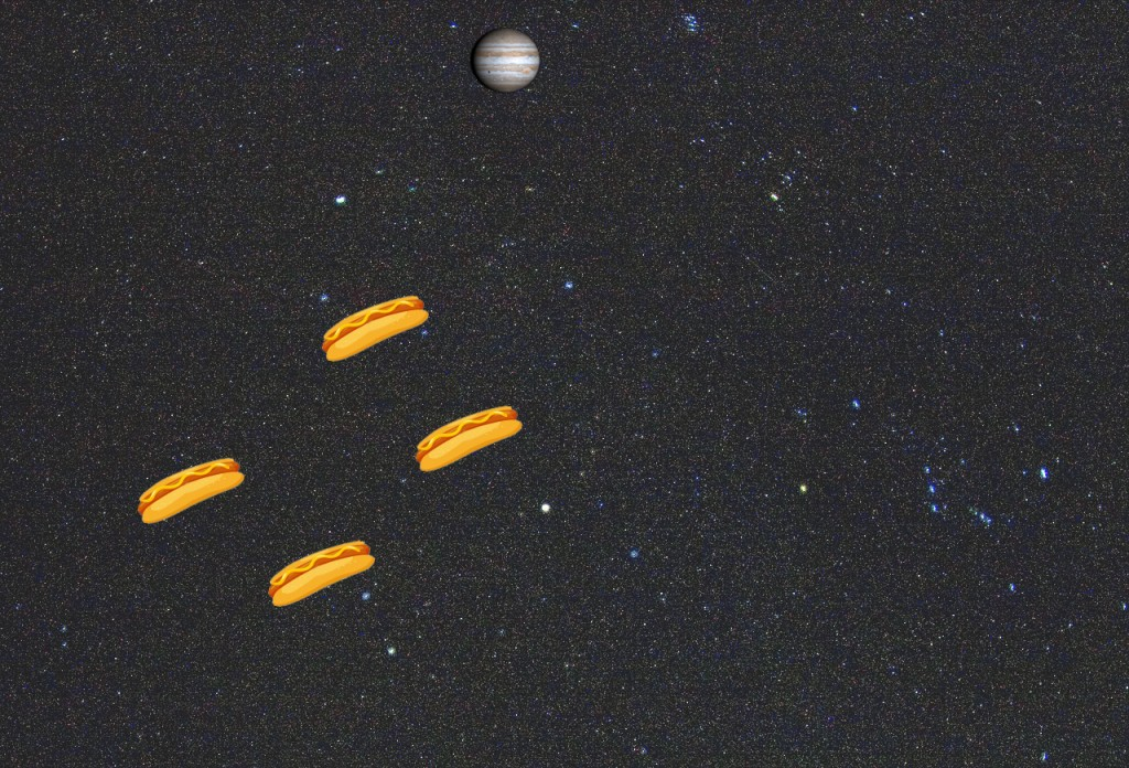hotdogs in space