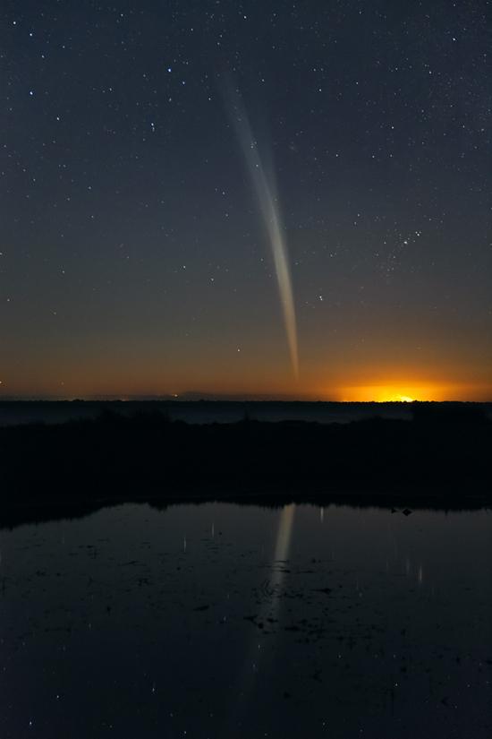 Komeet Lovejoy, eind 2011. Krijgen we dit spektakel dit jaar bij ons te zien?  Foto: NASA (Colin Legg)