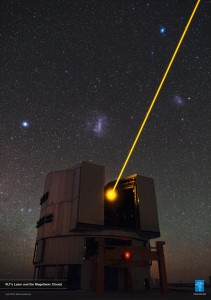 VLT's Laser and the Magellanic Clouds